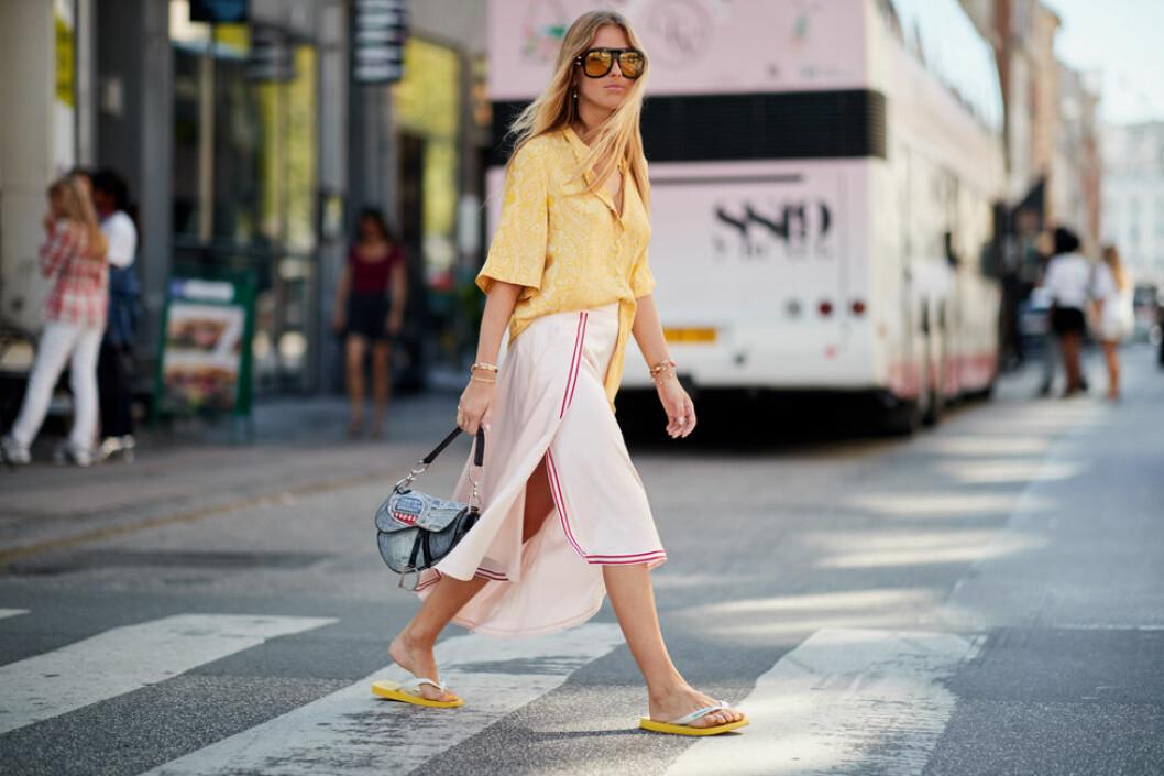 Flipflop sandaler på från Köpenhamns modevecka.