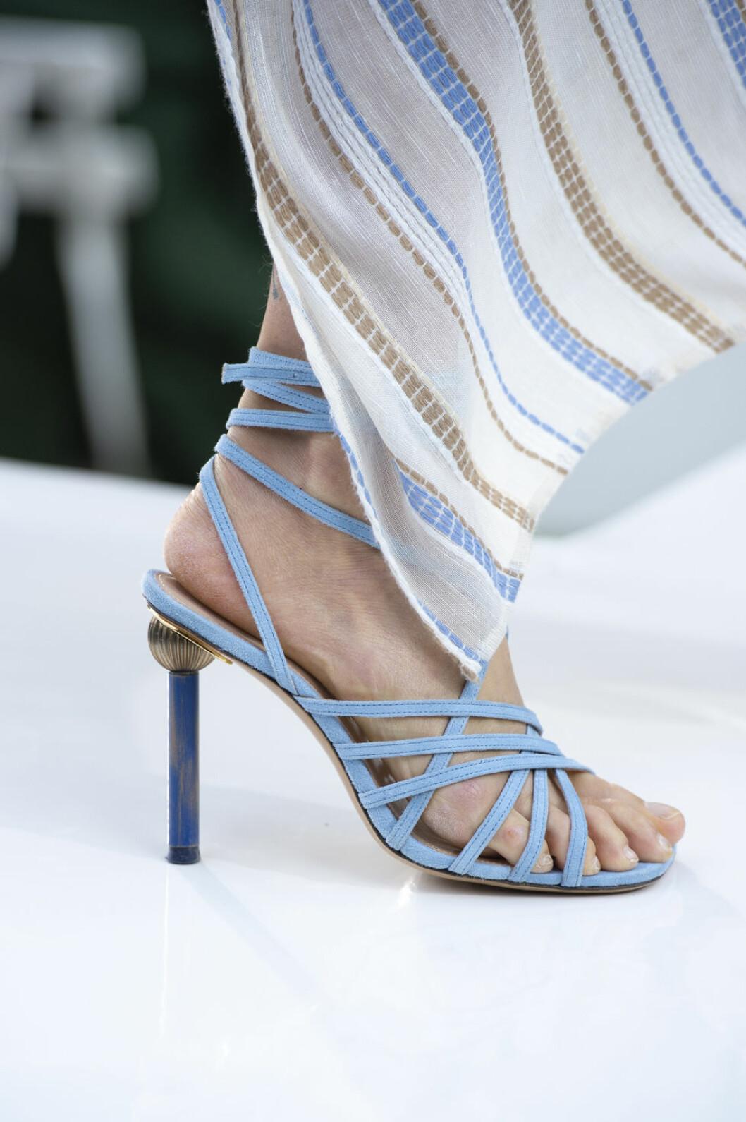 Jacquemus blåa strappy sandaler