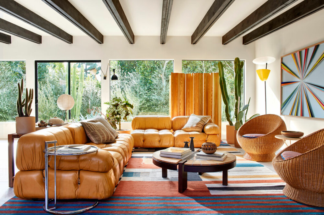 Hemma hos Sophia Bush Hollywood vardagsrum