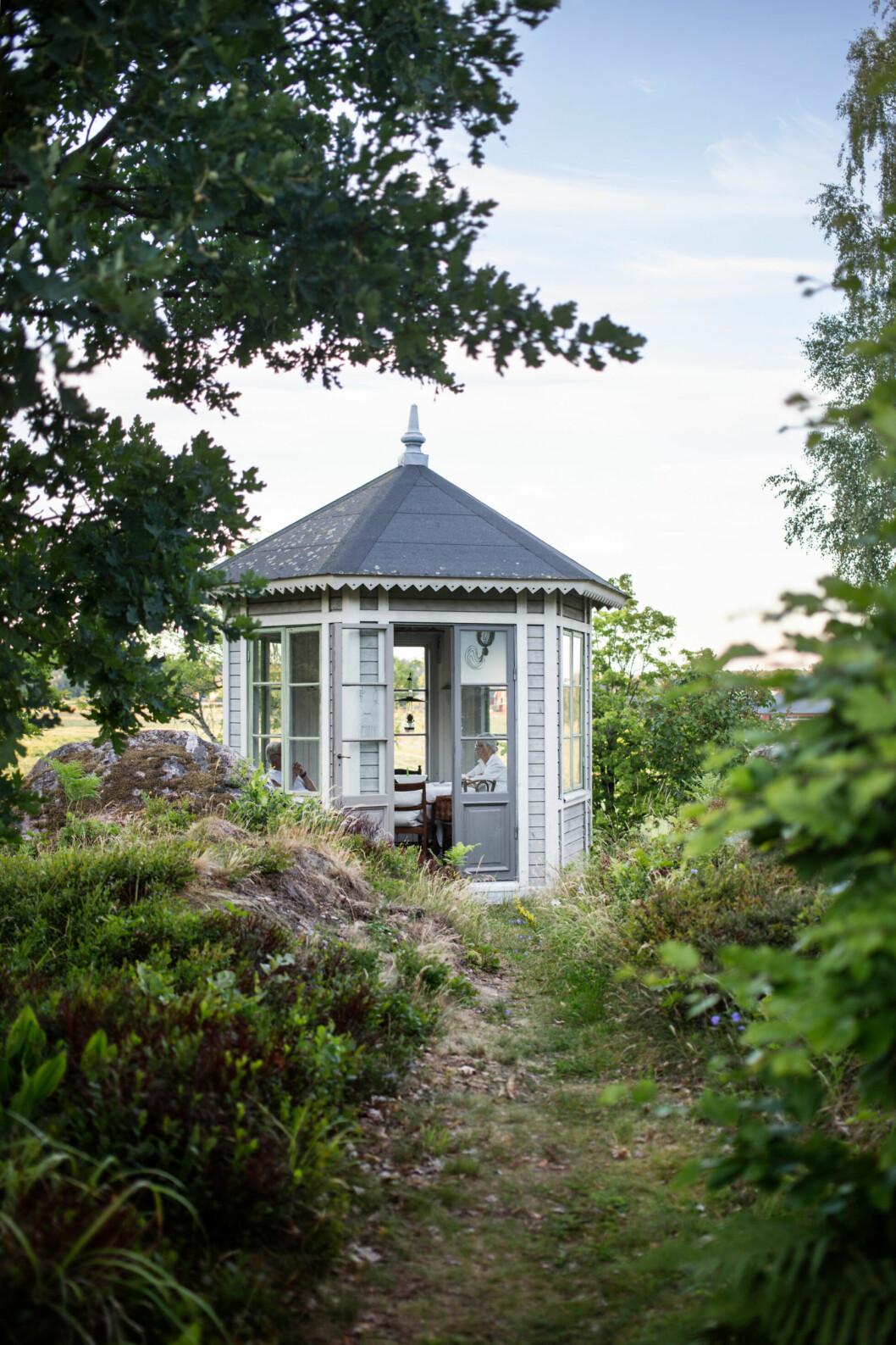 Vackert lusthus i Sörmland