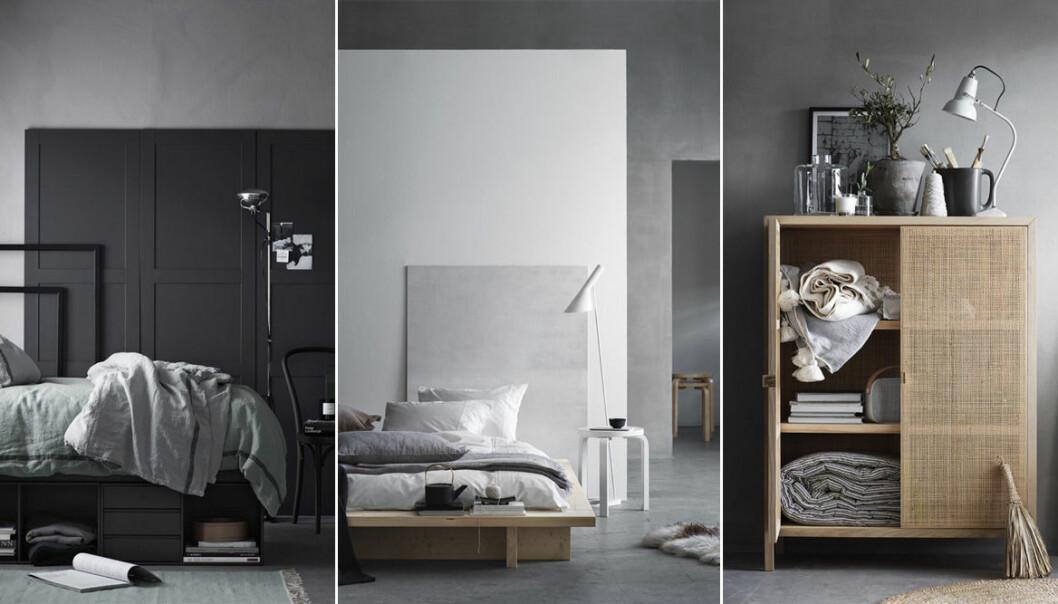 olika sovrum i den vilsamma stilen