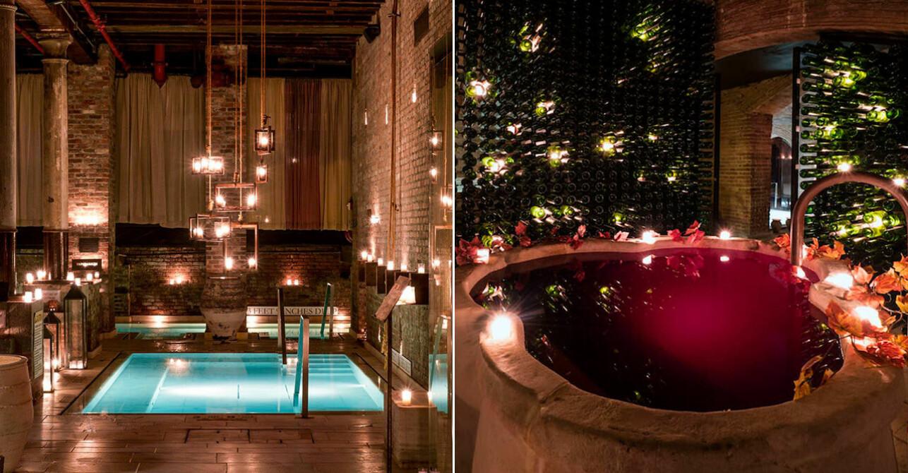 Aire New York, pool och vinspa