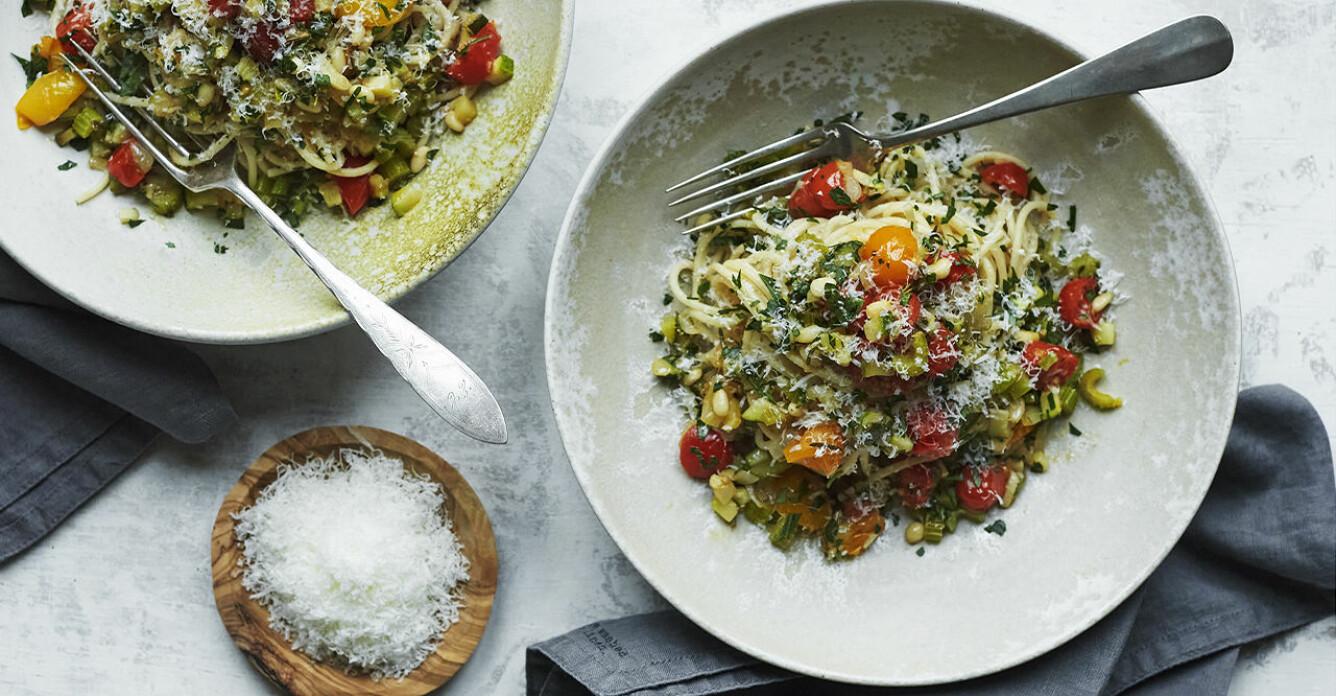 Recept på spaghetti sugo verdure