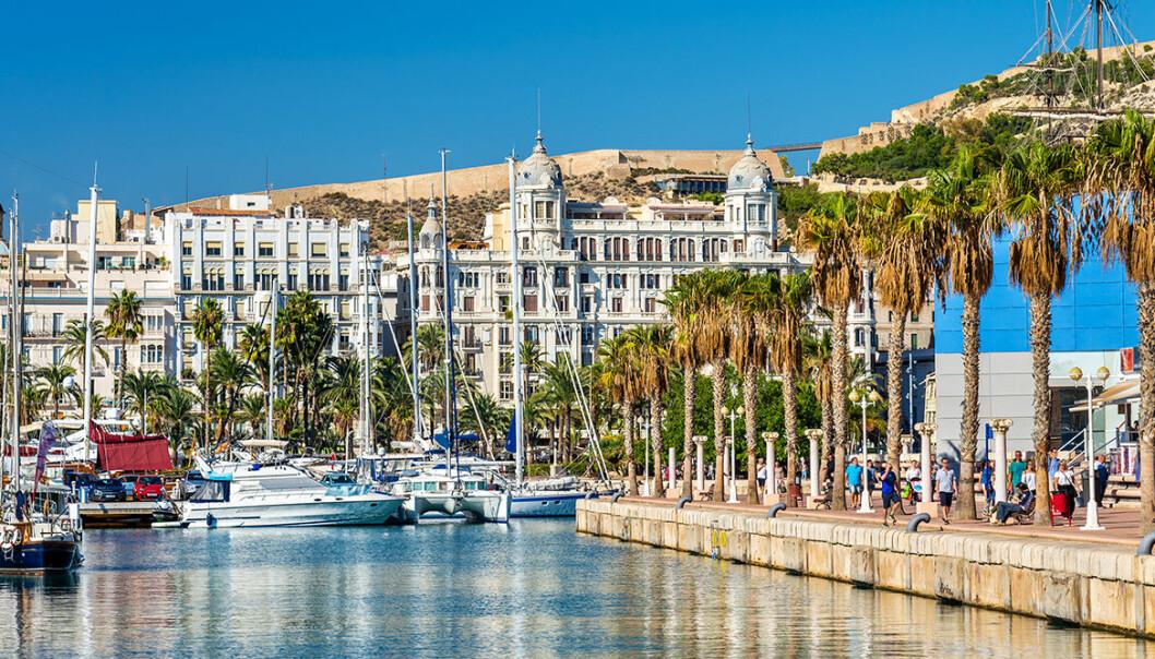 Hamn i Spanien