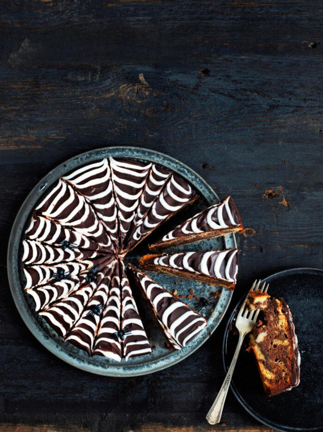 Recept på spindelkaka till halloween