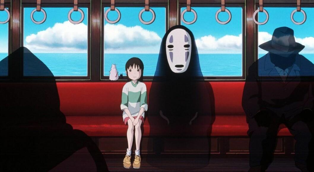 En bild ur animefilmen Spirited Away av Studio Ghibli.