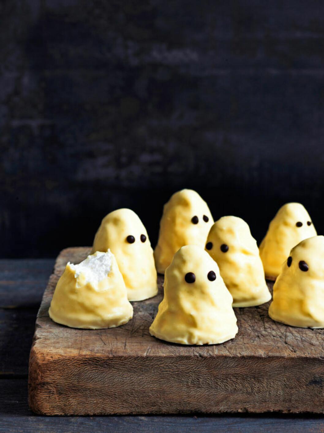 Recept på spök-mums-mums till halloween