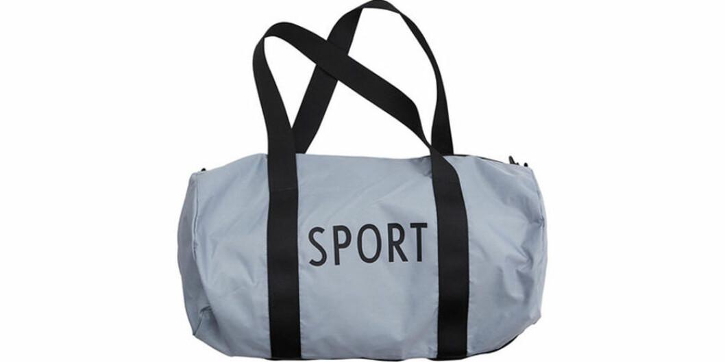 Enkel träningsväska i blå färg