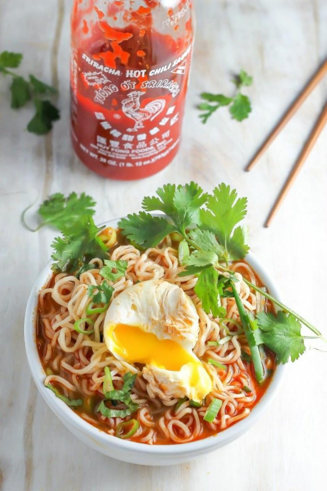 Sriracha ramen.