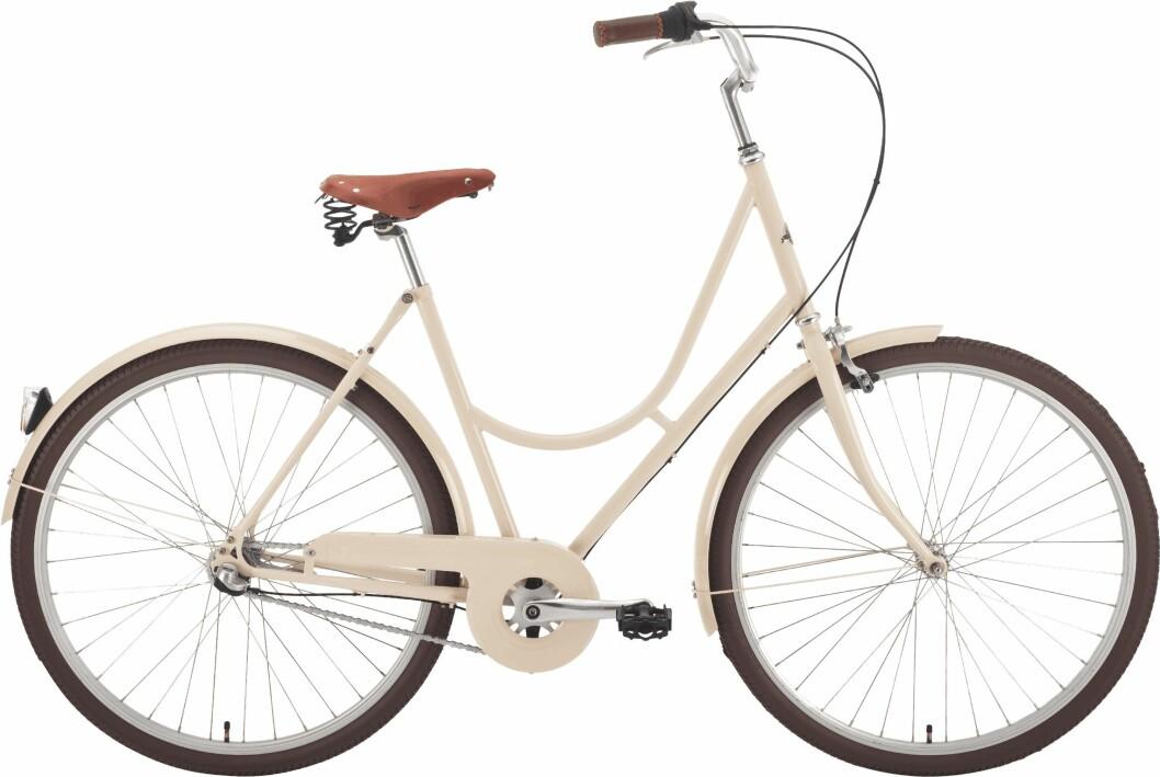 beige cykel från Stålhästen.