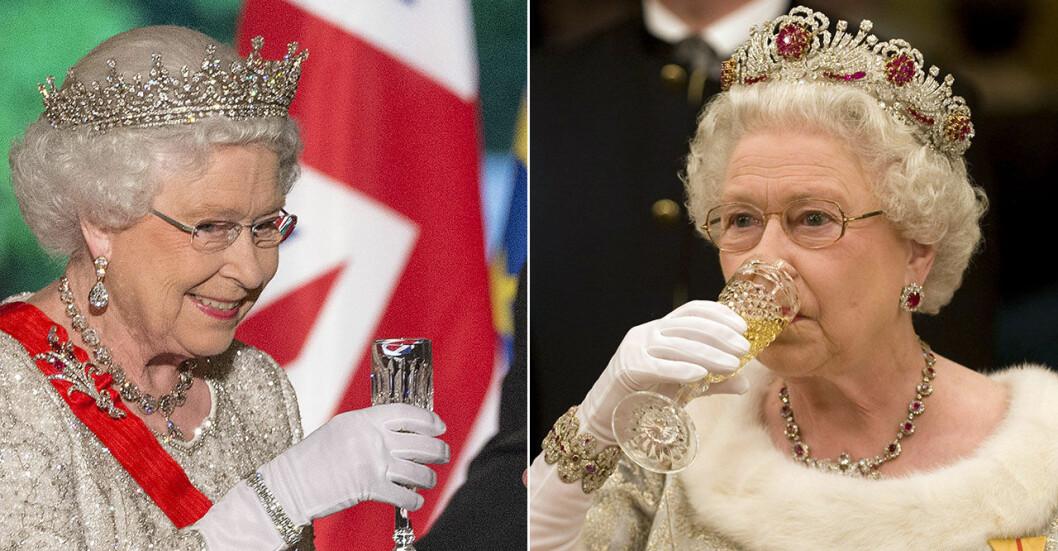 Drottning Elizabeth skålar