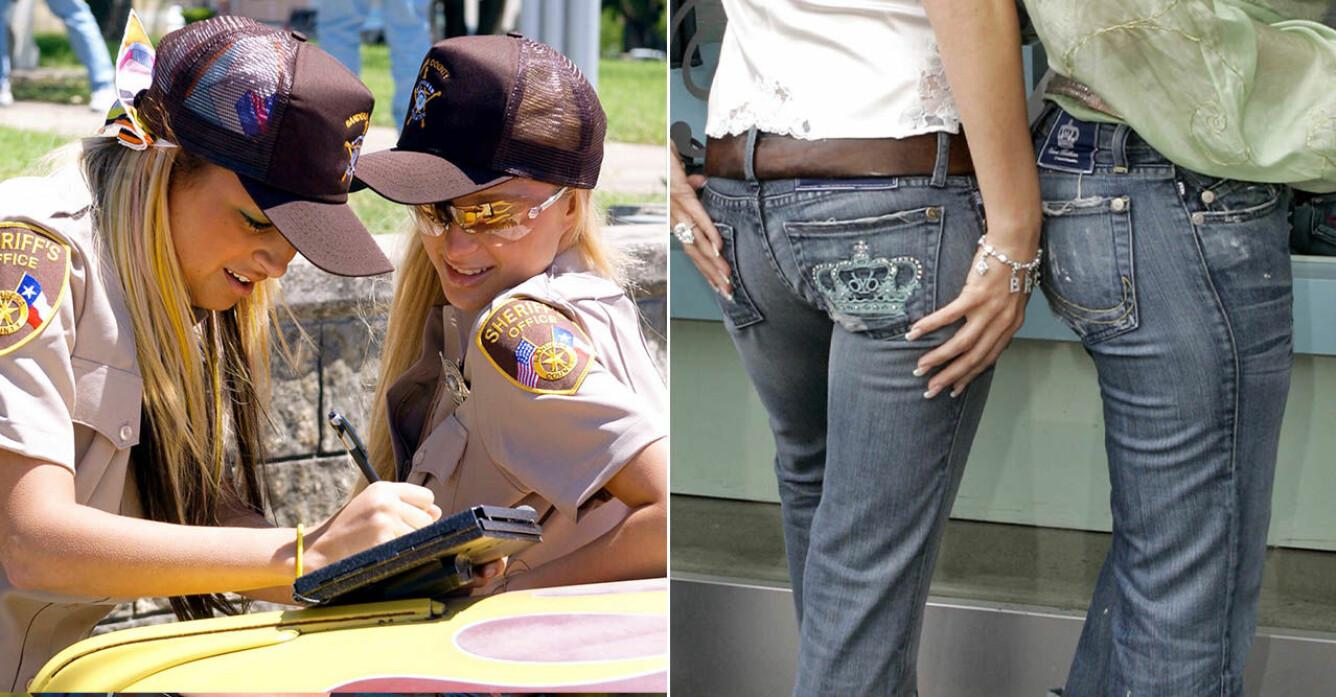 Nicole Richie och Paris Hilton och Victoria Beckhams jeans Rock and Republic
