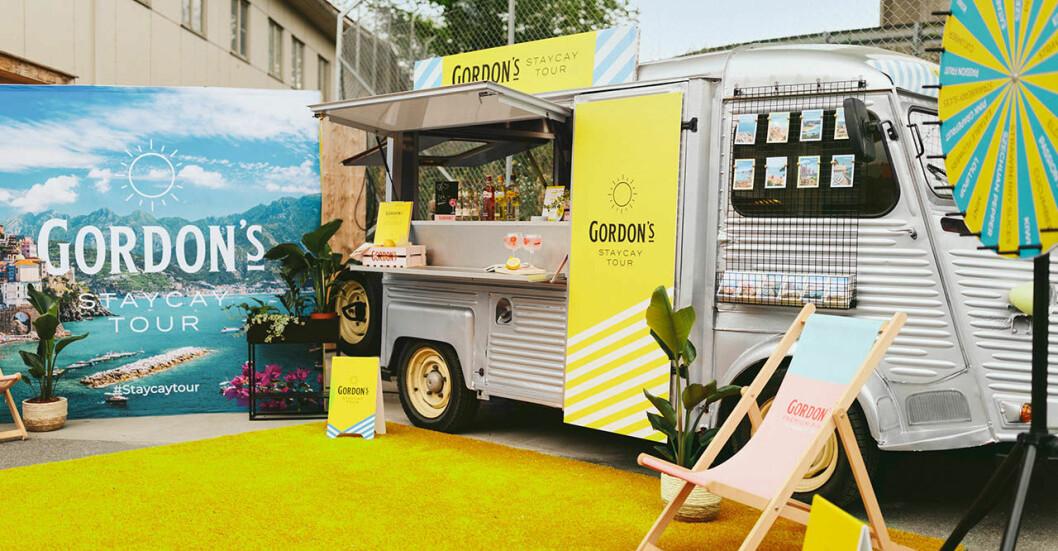 Gin och tonic drink truck i stockholm