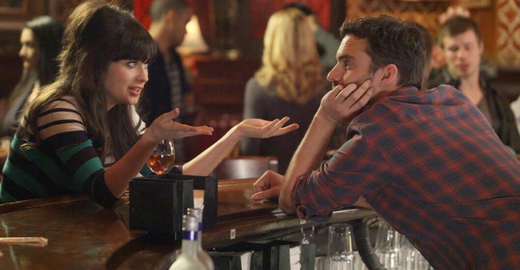 Jess och Nick i New Gril hänger över baren