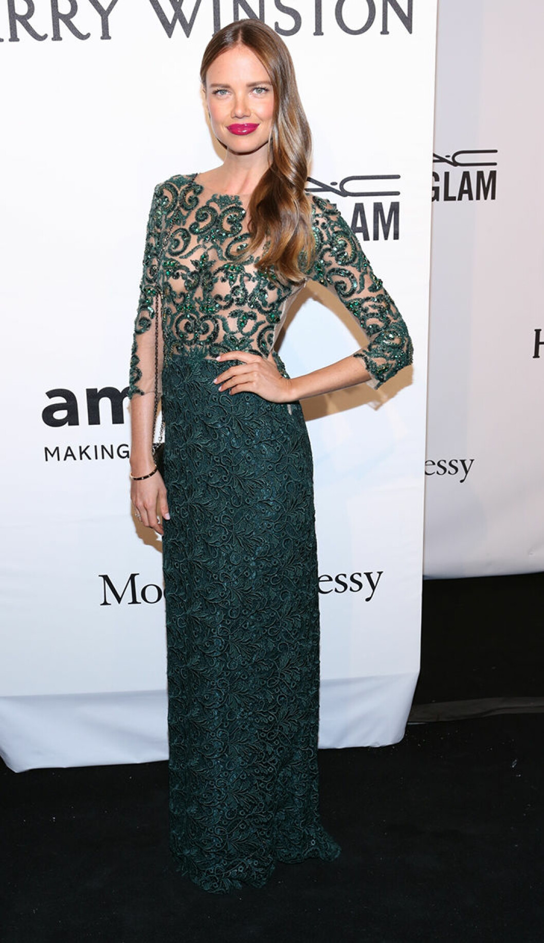 Alicia Rountree seen attending the 2015 amfAR New York Gala at Cipriani Wall Street