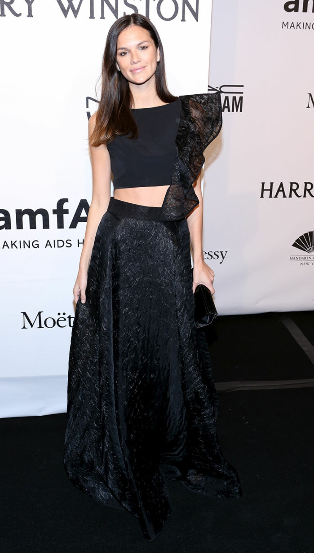Allie Rizzo seen attending the 2015 amfAR New York Gala at Cipriani Wall Street