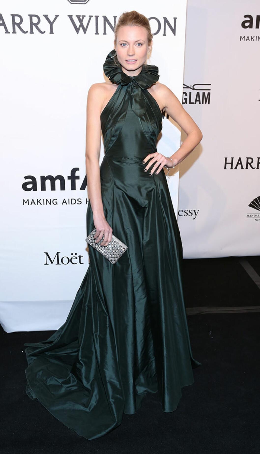 Charlotte Di Calypso seen attending the 2015 amfAR New York Gala at Cipriani Wall Street