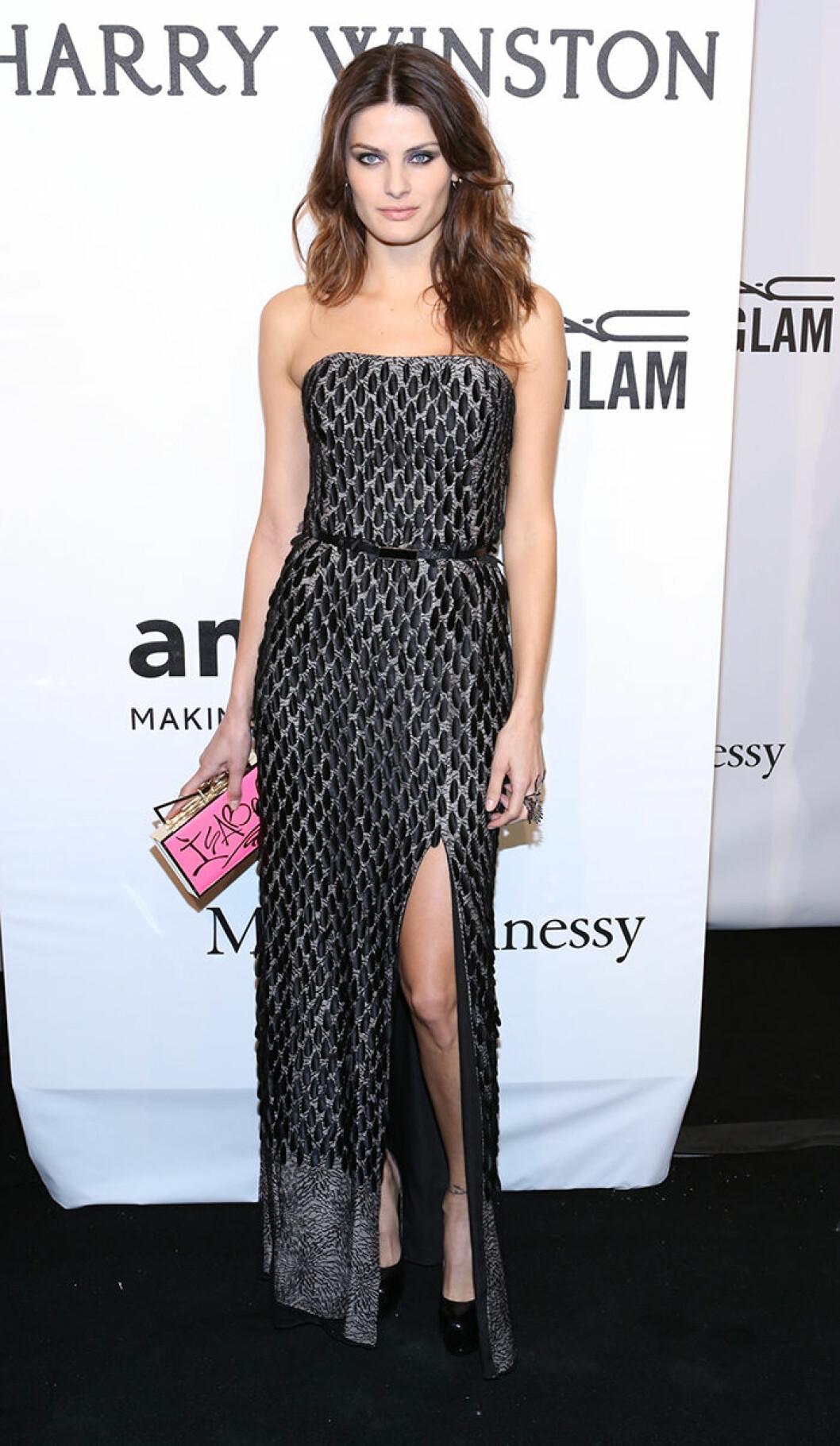 Isabeli Fontana seen attending the 2015 amfAR New York Gala at Cipriani Wall Street