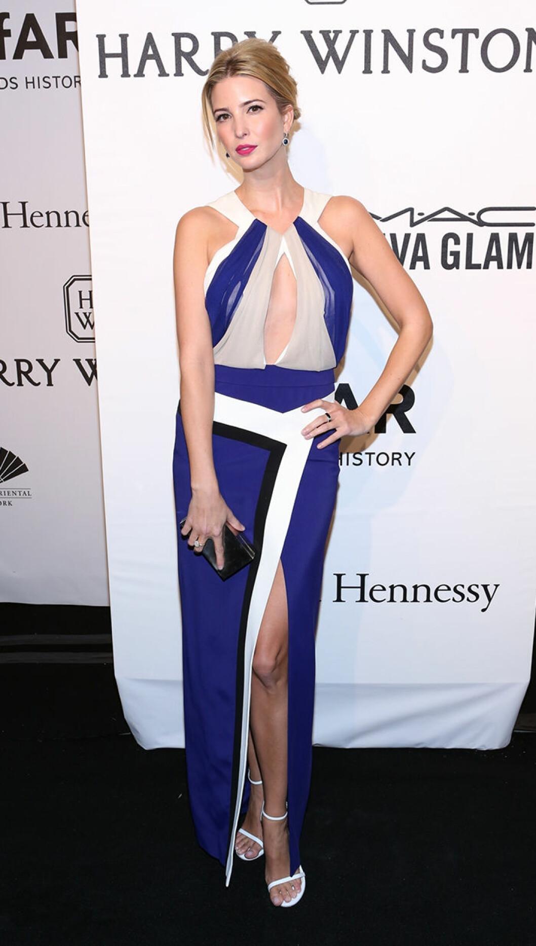 Ivanka Trump seen attending the 2015 amfAR New York Gala at Cipriani Wall Street