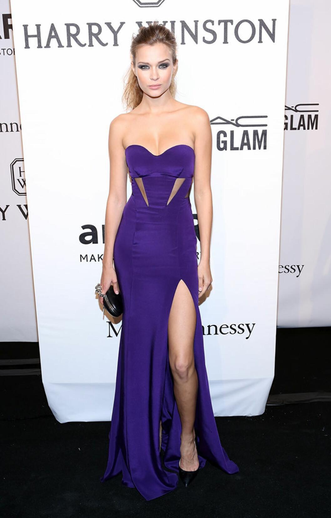 Josephine Skriver seen attending the 2015 amfAR New York Gala at Cipriani Wall Street