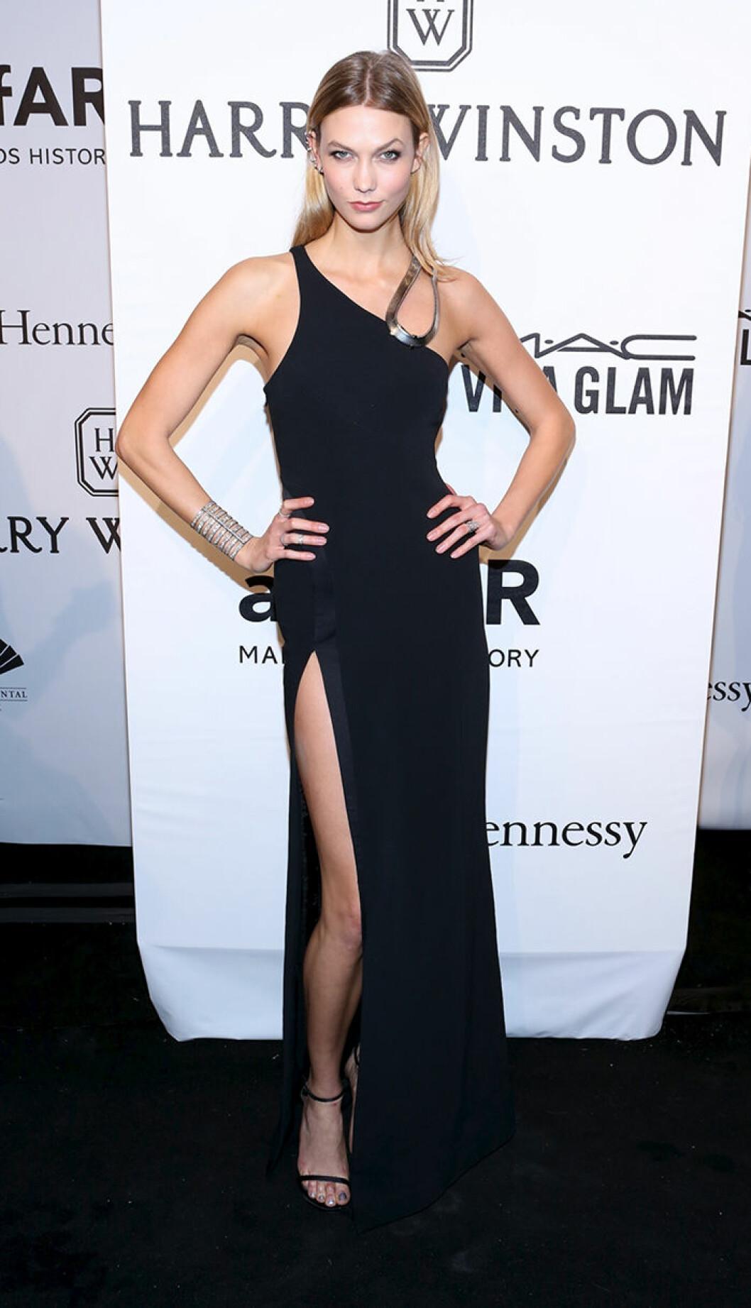 Karlie Kloss seen attending the 2015 amfAR New York Gala at Cipriani Wall Street