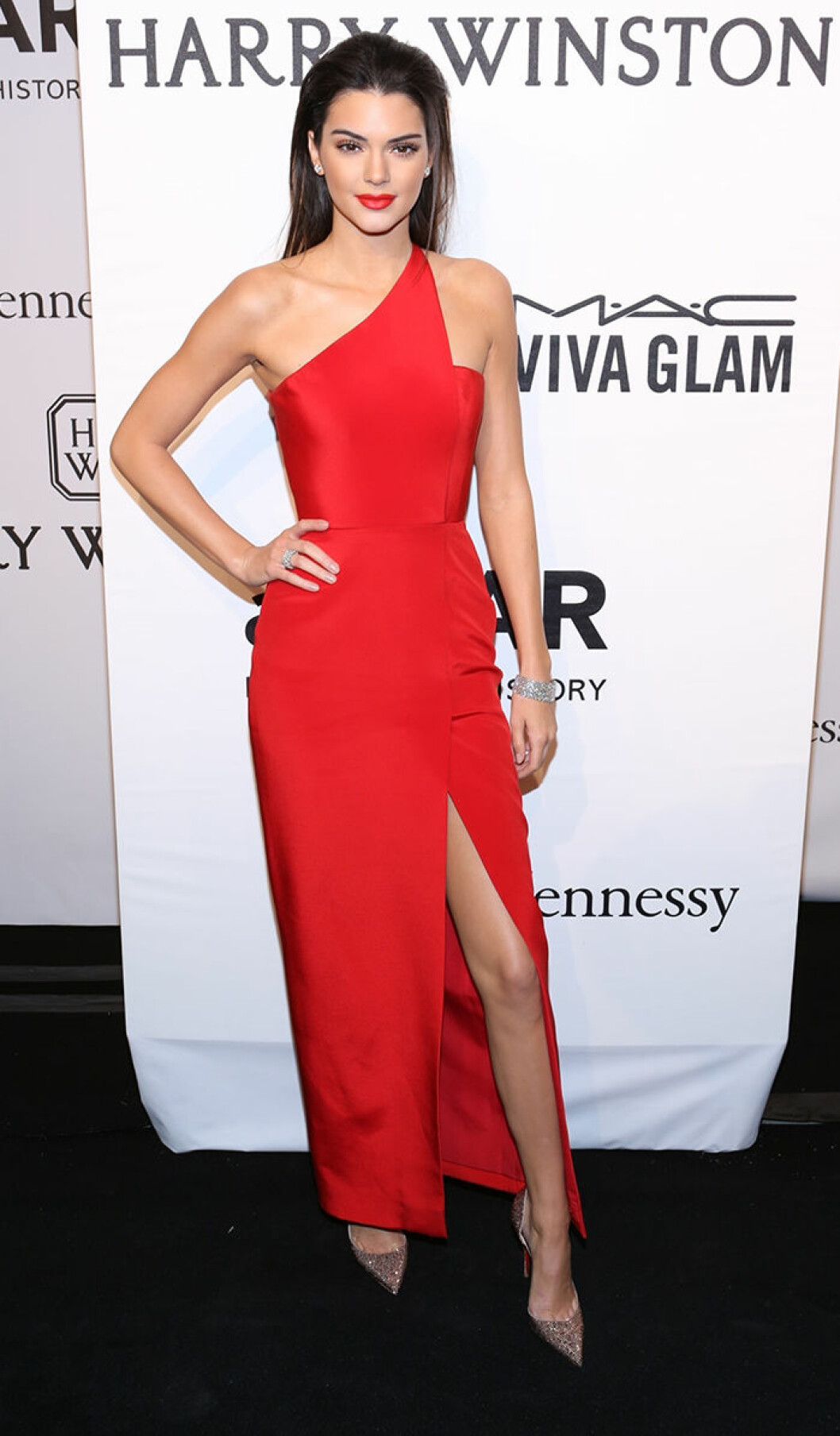 Kendall Jenner seen attending the 2015 amfAR New York Gala at Cipriani Wall Street