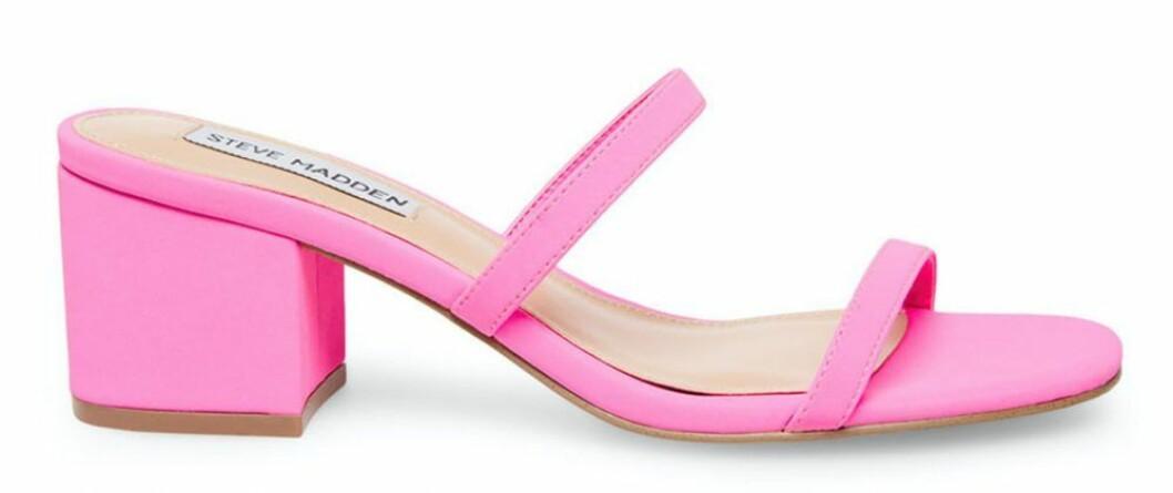 rosa sandaletter från Steve Madden.