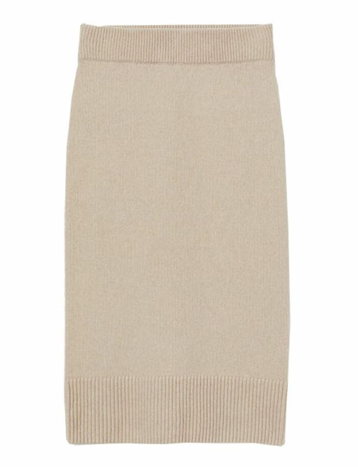 stickad kjol från hm