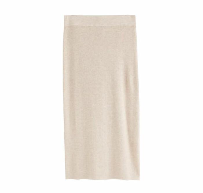 stickad kjol från lindex