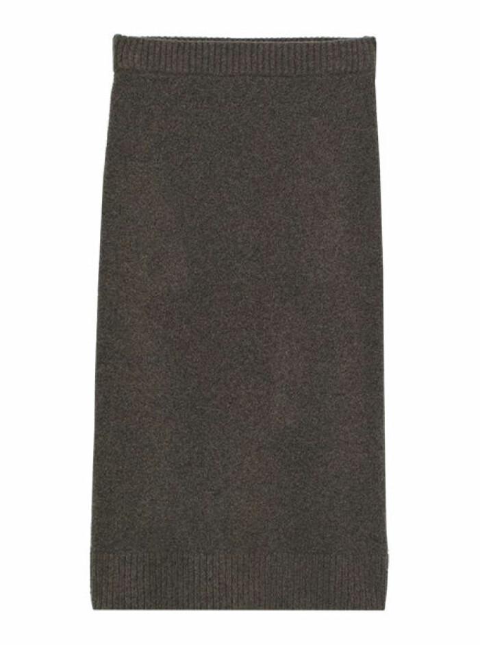 stickad lång kjol