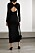 Stickad långklänning med snygg djup rygg från Helmut Lang.