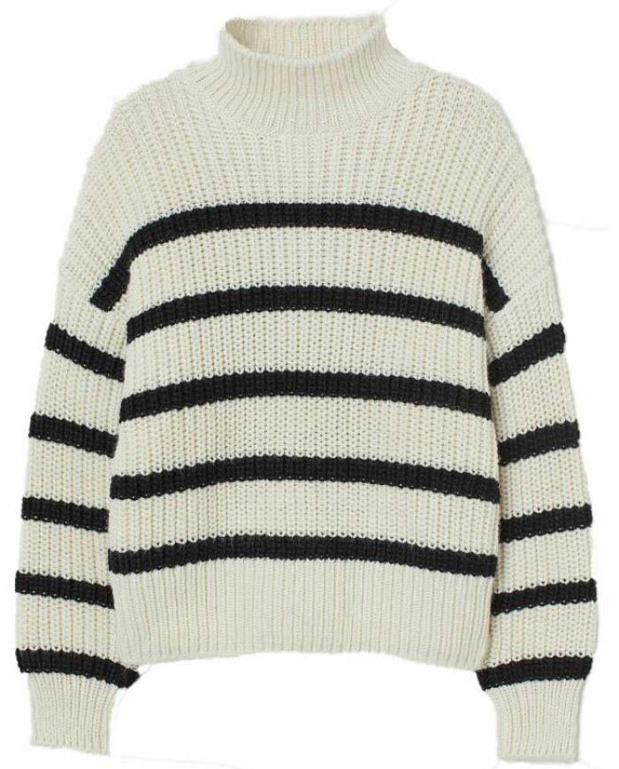 Stickad randig tröja med klassiska ränder från H&M s