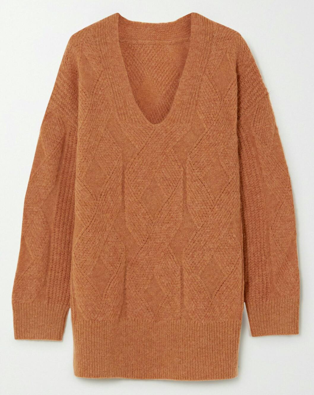 Rostfärgad oversized tröja från Munthe