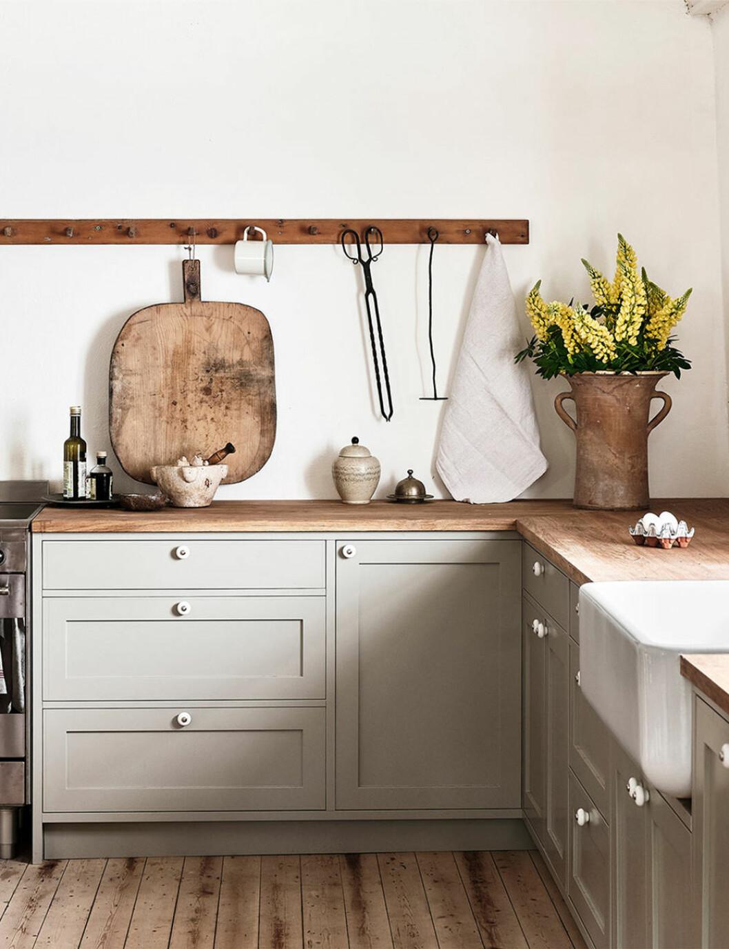 Stilleben i köket hemma hos Ellen Dixdotter på Österlen