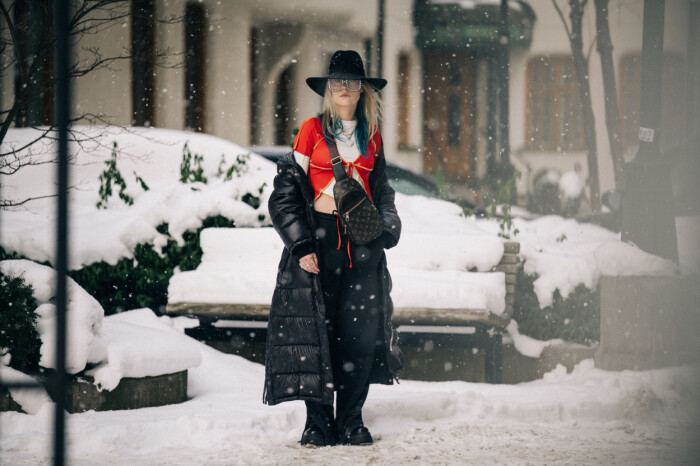 streetstyle stockholm fashion week 2021 snölook