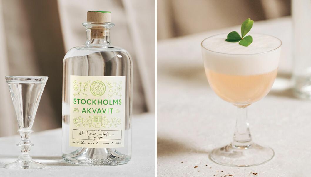 Blanda en Stockholms Sour med akvavit från Stockholms Bränneri!