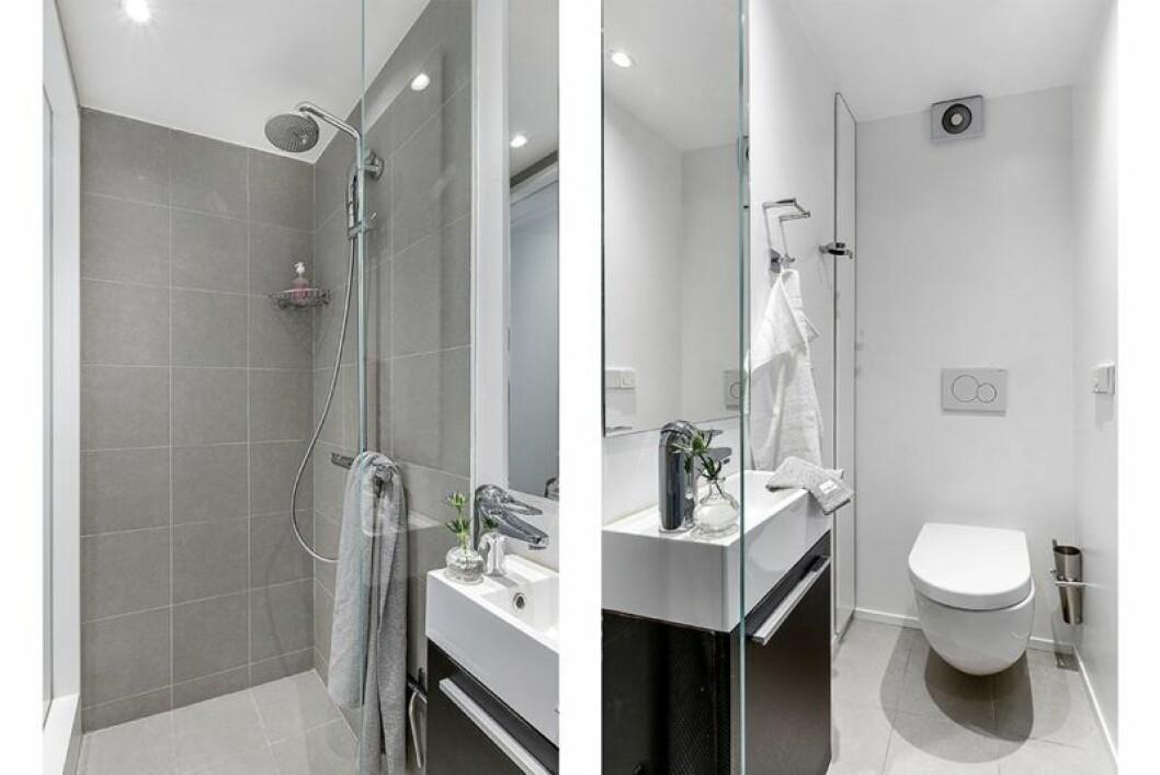 Ljusgrått badrum