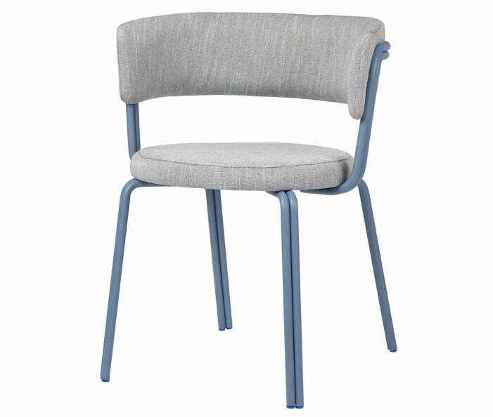 blå stol