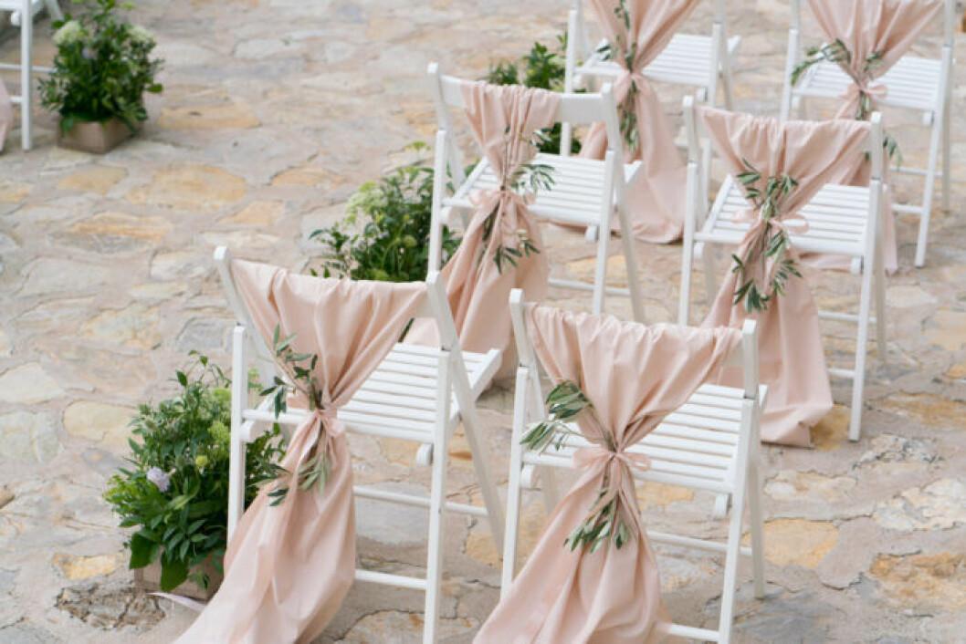Rosa tyg till bröllop