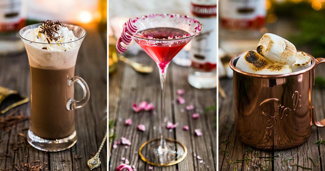 Vinterdrinkar med vodka och godis.