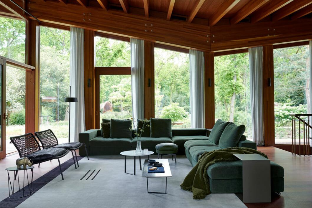 Hemma hos paret Stolk i Nederländerna stort vardags med gröna möbler