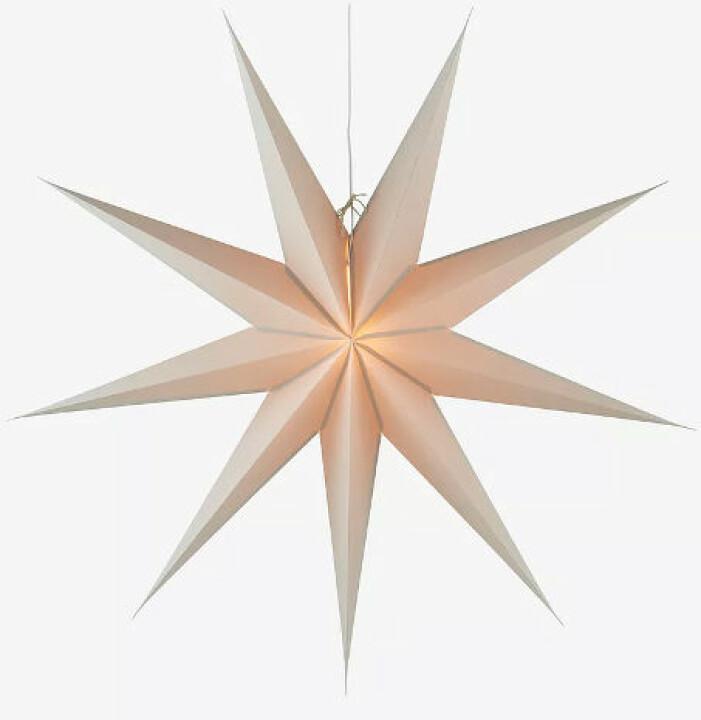 stor beige stjärna från jotex