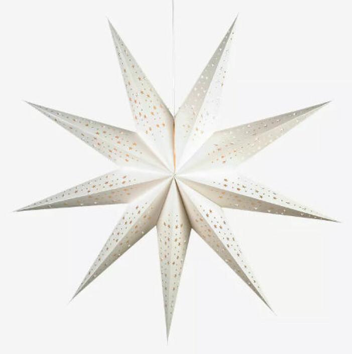 stor vit julstjärna från markslöjd