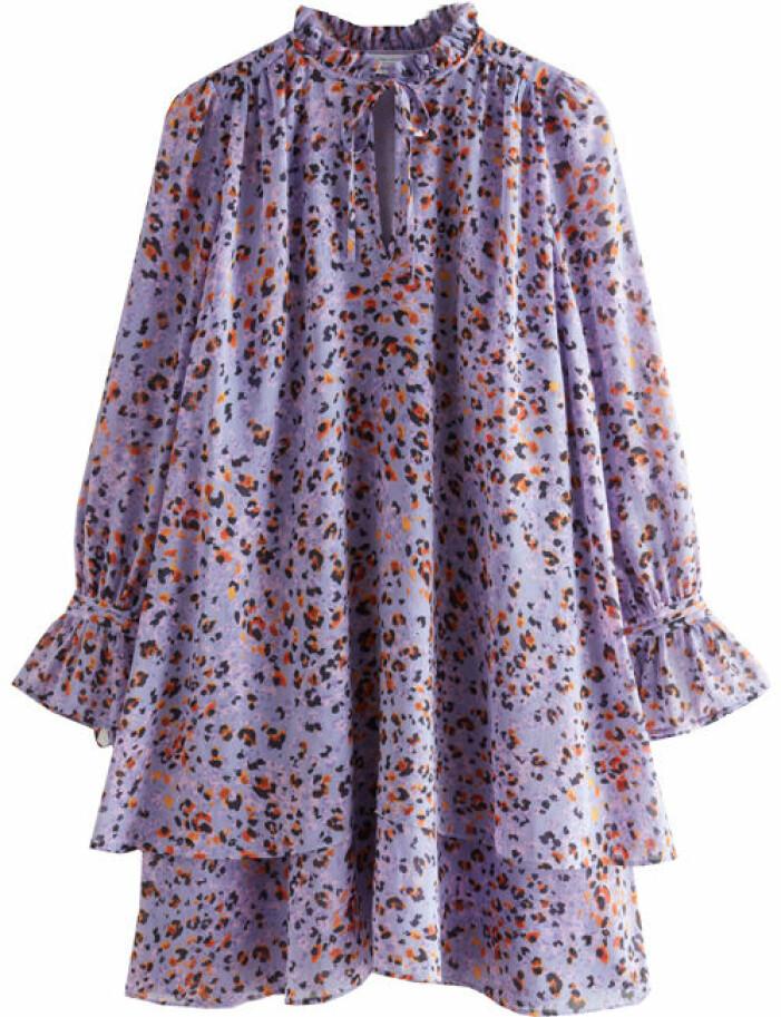 mönstrad miniklänning