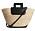 stråväska med svarta detaljer sommaren 2021