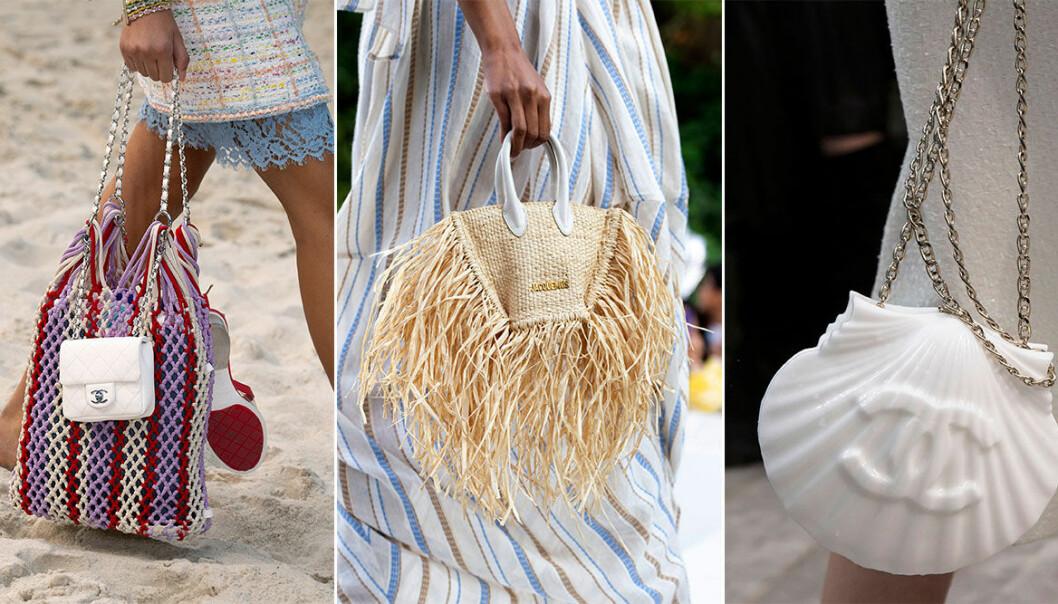 Strandväskor från Jacquemus och Chanel SS19.
