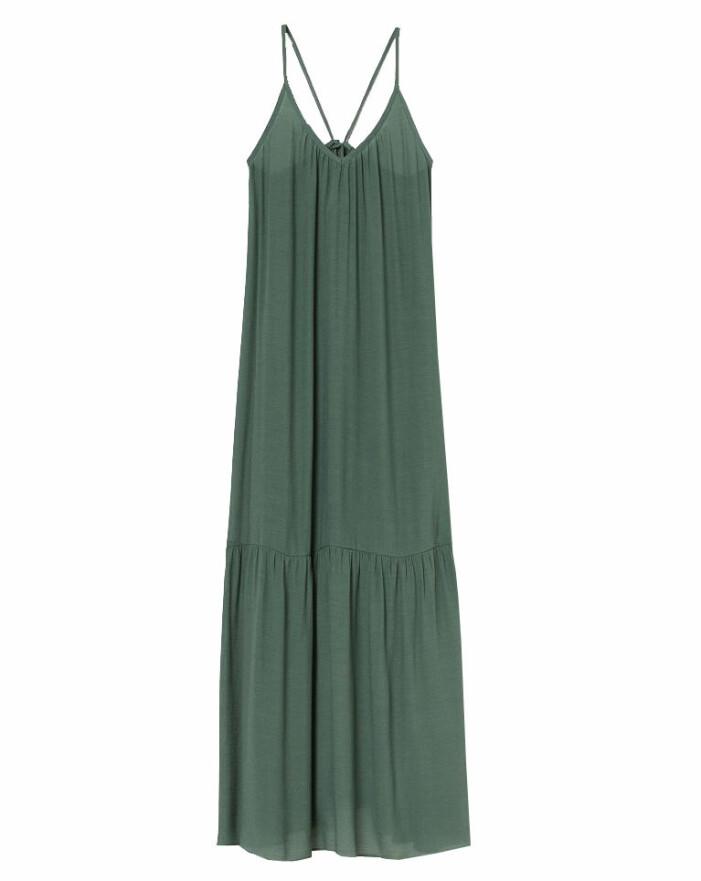 grön maxiklänning från hm