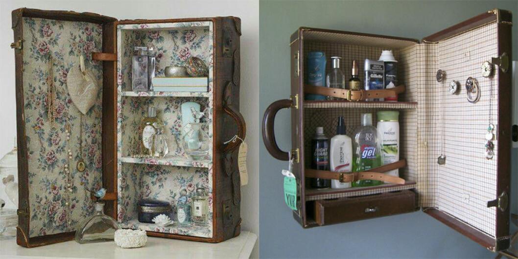 Resväska som öppnas upp och är en låda med förvaring