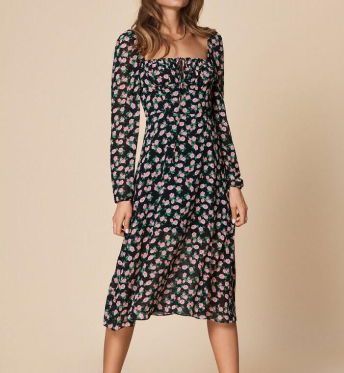 blommig klänning adoore