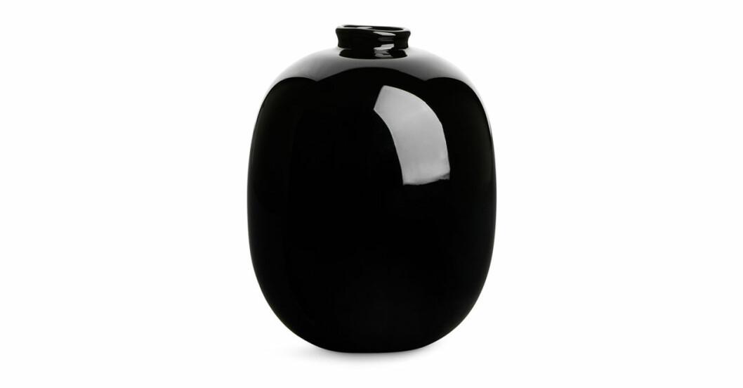 Trendig svart glasvas